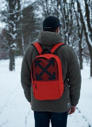 Срочно рюкзак/портфель унисекс. красный off white !