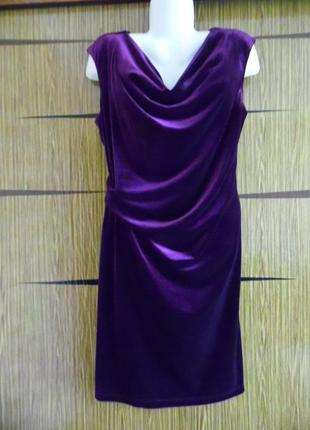 Платье велюр roman размер 20 – идет на 54-56.