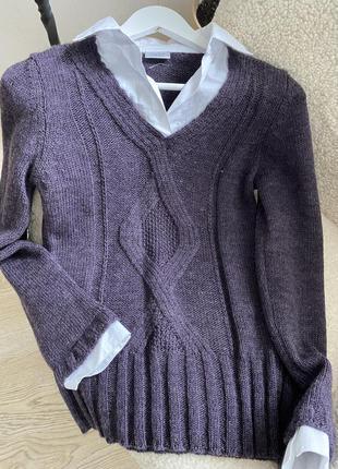 Новый свитер шерсть и альпака