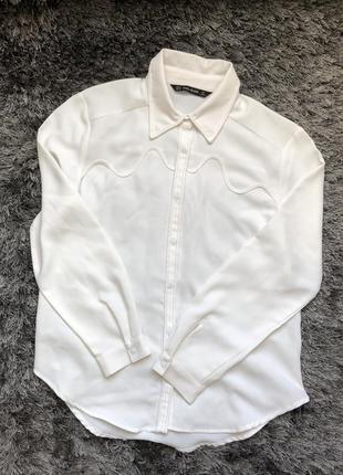 Рубашка zara белая