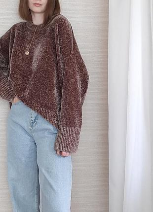 Мягенький велюровый свитерок