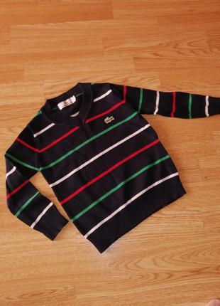 Кофта свитшот на мальчика пуловер в полоску