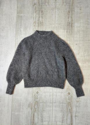 Мягенький тёплый свитер пушистый zara обьемные рукава
