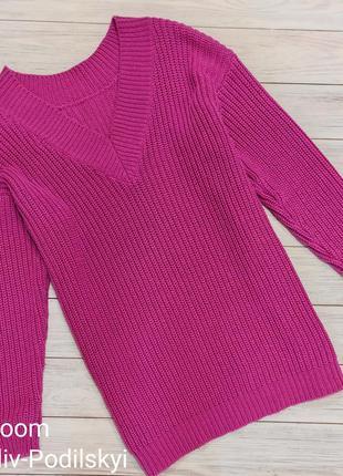 Теплый вязанный свитер туника