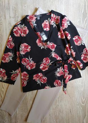 Новая блузка на запах primark размер 18