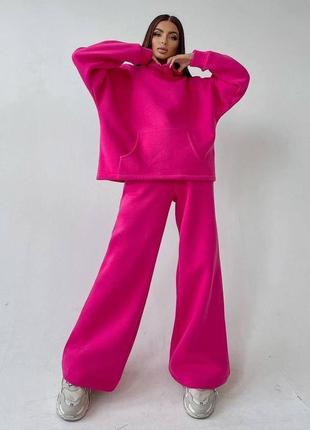 Трендовый флисовый костюм