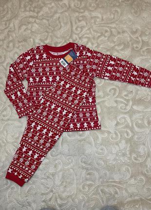 Пижама новогодняя рождество merry christmas имбирный человечек