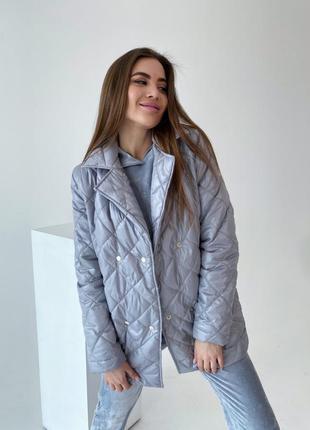 Модная куртка стёганная с поясом 👌🏻