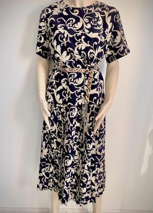 Костюм двойка в стиле versace/юбка плисе/винтажное платья/винтажная блуза/ретро платья