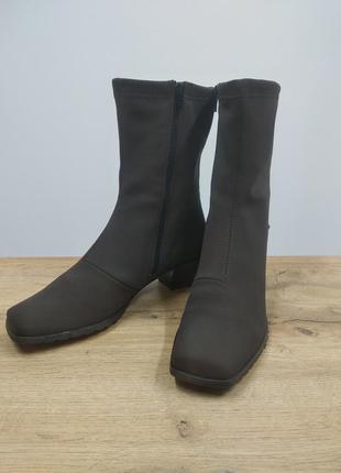 Черевики з квадратним носком еластичні демі черевики чулки панчохи чоботи ботильйони водонепроникні