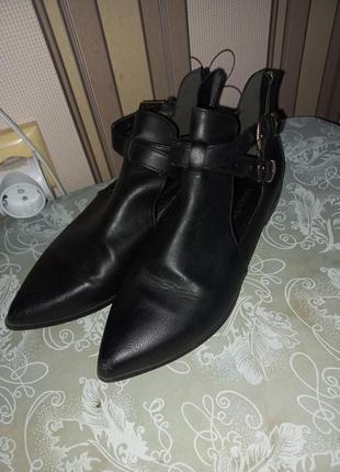 Ботинки туфли кожа