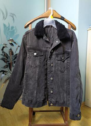 Джинсовка теплая topshop джинсова куртка тепла