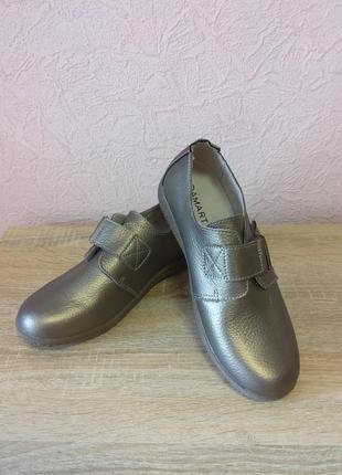 Красивые туфли damart  натуральная кожа  новые акция 1+1=3