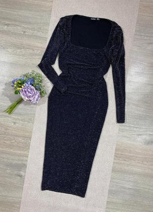 Трендовое шикарное платье по фигуре с блеском.