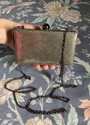 Нарядная маленькая сумочка клатч french connection праздничная сумочка