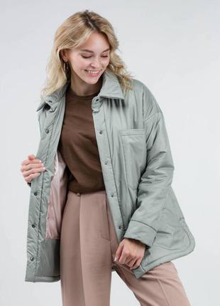 Куртка рубашка сорочка женская утеплённая утеплена