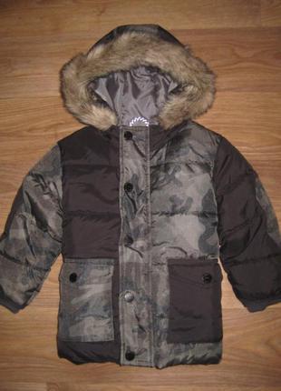 Теплая демисезонная куртка next на 1-1,5 года