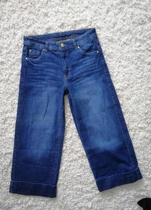 Стильные женские джинсы кюлоты yessica 36 в прекрасном состоянии
