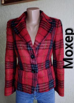 Фирменный пиджак жакет, шерсть и мохер, р.36