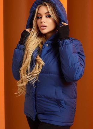 Синяя куртка осень зима