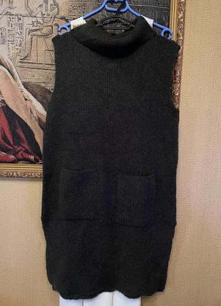 Крутой стильный свитер платье