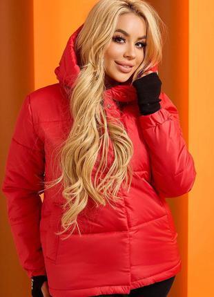 Красная куртка осень зима