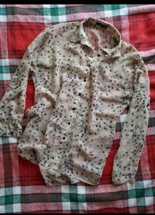 Подовжена блуза рубашка сорочка у ластівки atmosphere