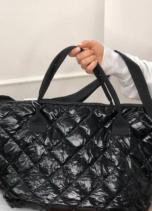 Спортивна дута сумка в кольорах чорний