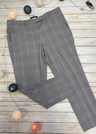 Очень стильные брюки в клеточку с розовыми линиями m&s