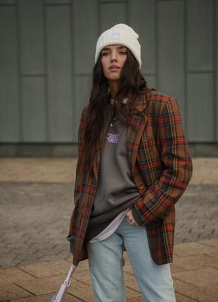 Трендовый винтажный оверсайз пиджак/жакет от bianca .
