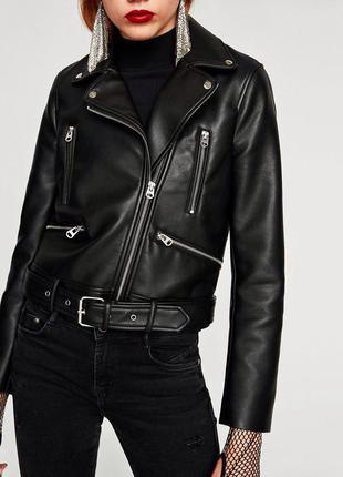 Модная куртка косуха zara 2017