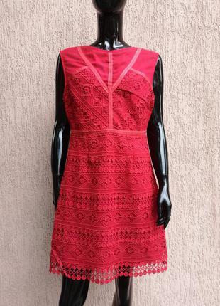 Вечірня сукня платье кружевное new look premium uk 14