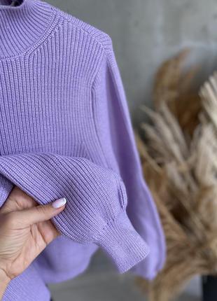 Zara  свитер гольф лиловый цвет s