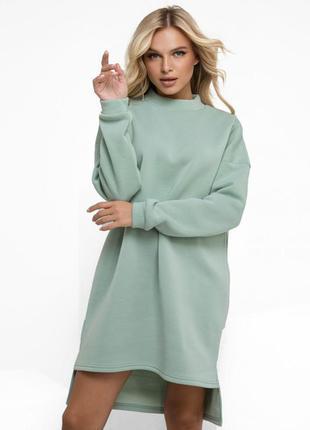 Тепле трикотажне плаття на флісі