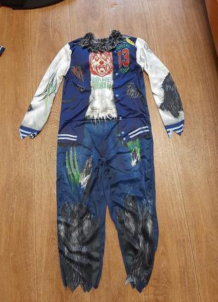 Новый костюм чудовище р.9-10л  134-140 ужас карнавальный хеллоуин вампир оборотень