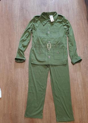 Солдат р.9-10л 134-140 костюм военный карнавальный