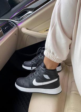 Кросівки jordan 1 high black кроссовки