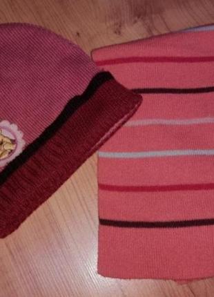 Демисезонная детская шапочка и шарф