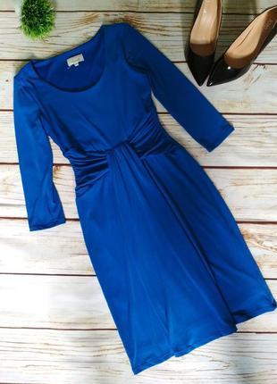 Платье миди елегантное платье с драпировкой с рукавом