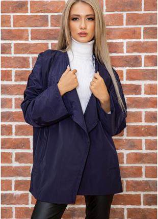 Жакет женский цвет темно-синий  оверсайз