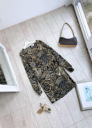 Платье h&m в крутой принт сукня платье миди