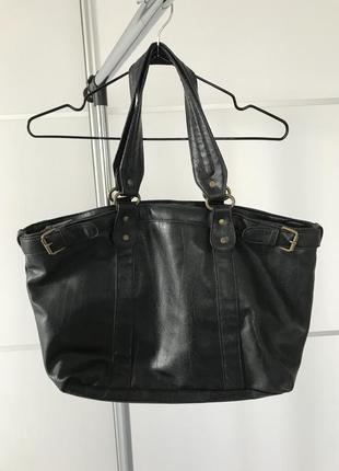 Чорна сумка, черная сумка кожа pu.