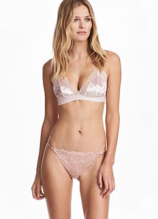 Кружевные трусики h&m bikini 36/s