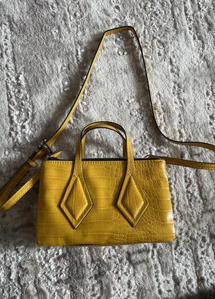 Желтая сумочка zara