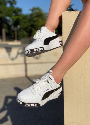Кожаные кроссовки puma cali