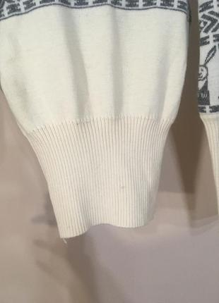 Тёплый свитер 100% шерсть