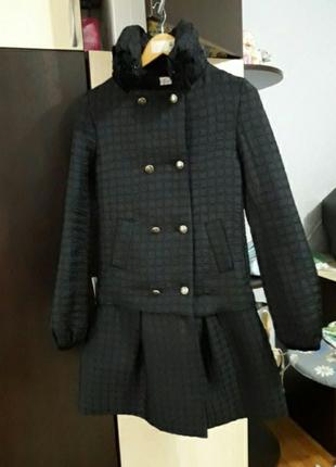 Демисезонное пальто на девочку eve. рост 164-170, размер xs-s. новое