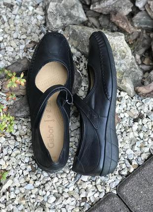Фирменные кожаные женские туфли мокасины gabor(германия) 41р.