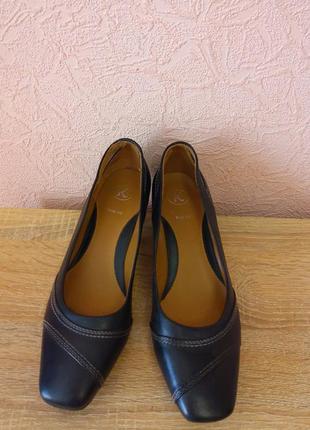 Красивые туфли натуральная кожа  k wide fit акция 1+1=3