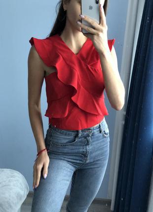 Топ блузка красная размер s 36